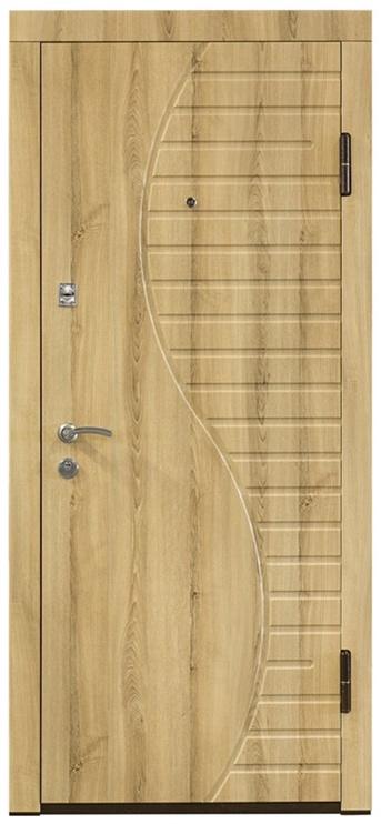 Plieninės vidaus durys PO-23, uosio, dešininės, 86x205 cm
