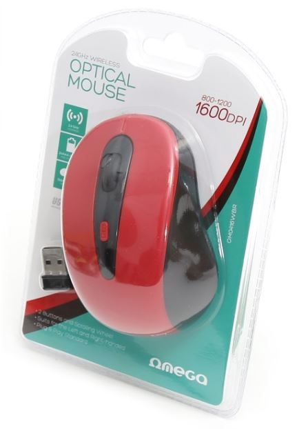 Omega Optical Mouse Red