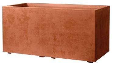 Deroma Millenium Cube Planter with Water Reservoir 79cm Corten