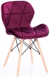 Valgomojo kėdė Homede Silla Velvet Red, 4 vnt.