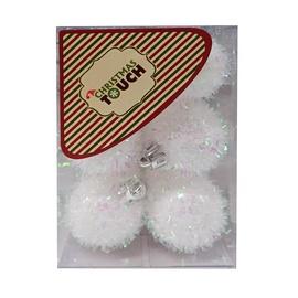 Ziemassvētku eglītes rotaļlieta Christmas Touch N3/4012Y White, 40 mm, 12 gab.