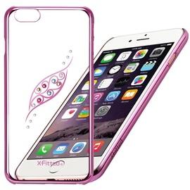 X-Fitted Graceful Leaf Swarovski Crystals Back Case For Apple iPhone 6/6s Pink