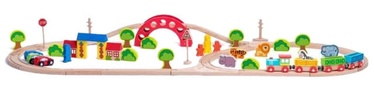 Woodyland Railway & Zoo Set 118cm 60pcs 93060
