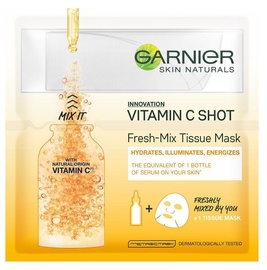 Garnier Skin Naturals Vitamin C Shot Fresh Mix Tissue Mask 1pcs