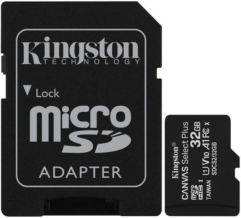 Kingston Canvas Select Plus 32GB microSDHC UHS-I Class 10 Pack Of 3 + SD Adapter