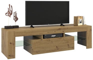 TV galds Top E Shop Deko 140, brūna, 1400x400x450 mm