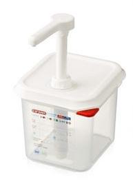 Stalgast Pump Dispenser For Sauces G/N 1/6 2.6l White