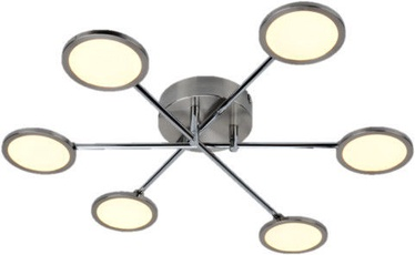 Brilliant Rufus Ceiling Lamp Silver 6x5W LED