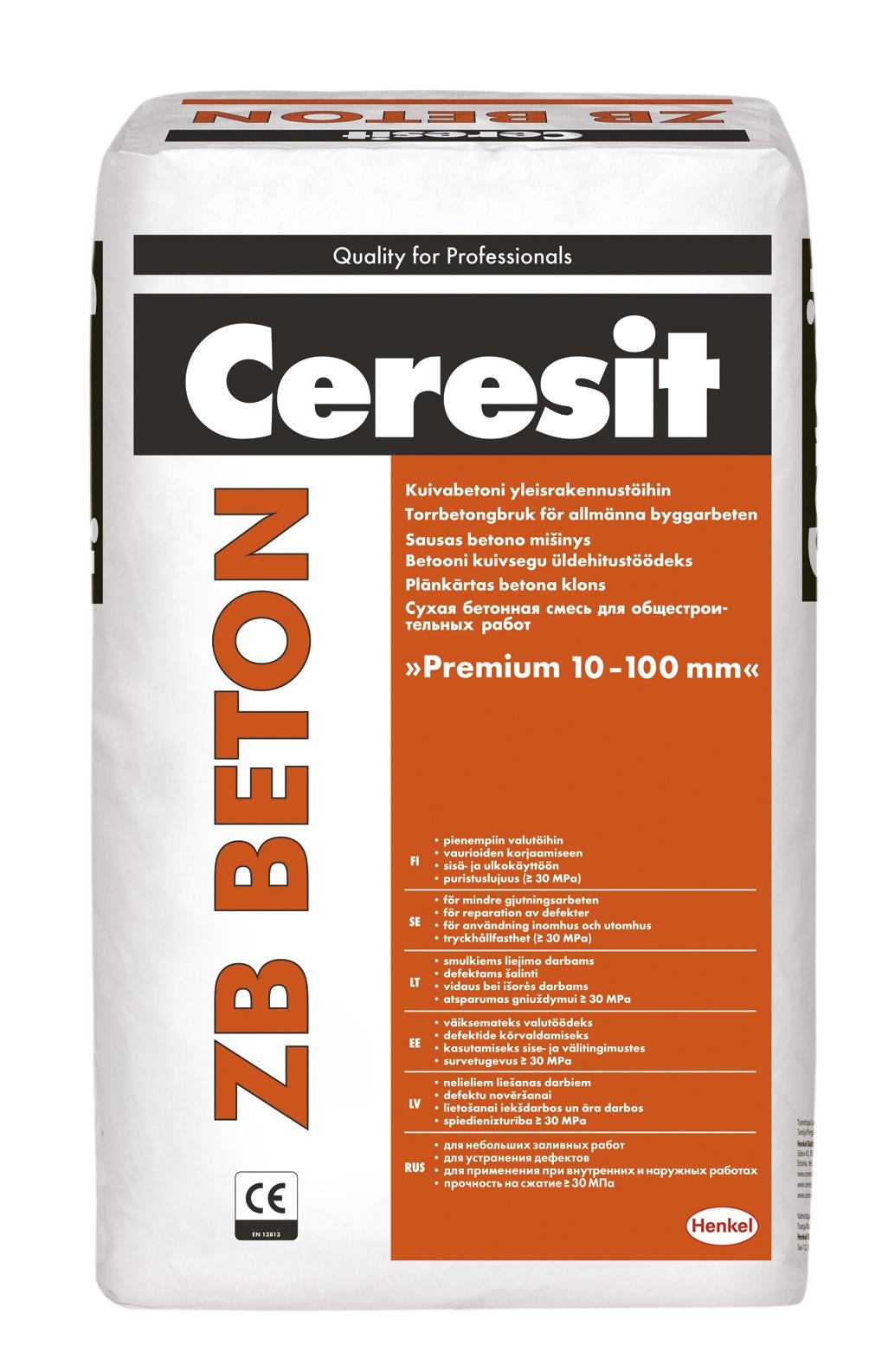 Betonas Ceresit ZB, 25 kg
