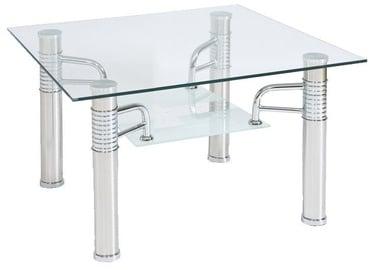 Kafijas galdiņš Signal Meble Modern Reni D Transparent, 600x600x550 mm
