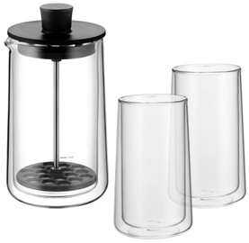 WMF Coffee Time Milk Frother Set With 2 Double-Walled Glasses