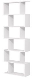 Plaukts Songmics Bookshelf 70x24x190.5cm White
