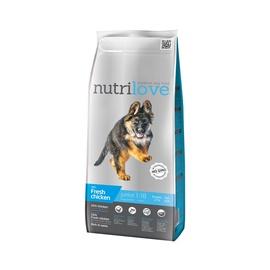 Kuivtoit koertele Nutrilove Junior Large, kanalihaga, 3 kg