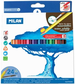 Milan Water Soluble Coloured Pencils 24pcs 742324