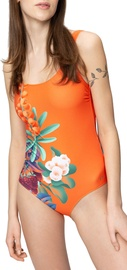 Audimas Womens Printed One Piece Swimsuit Fresh Berries 36
