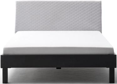 Gulta Meise Möbel Boston-1 Block Metal Foot Gray/Beige, 200x180 cm