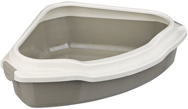 Trixie Pedro Corner Cat Litter Tray Taupe/Cream