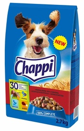 Sausas ėdalas šunims Chappi, su jautiena ir paukštiena, 2.7 kg