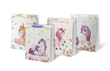 Paper Gift Bag With Unicorn 26x10x32cm SCW314-ABCD-M