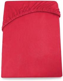 Palags DecoKing Amelia, sarkana, 140x200 cm, ar gumiju