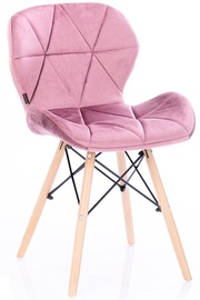 Homede Silla Chairs Velvet 4pcs Mauve