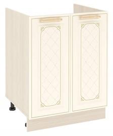 DaVita Milana 23.50 Kitchen Bottom Cabinet Under The Sink Astrid Pine/Vanilla