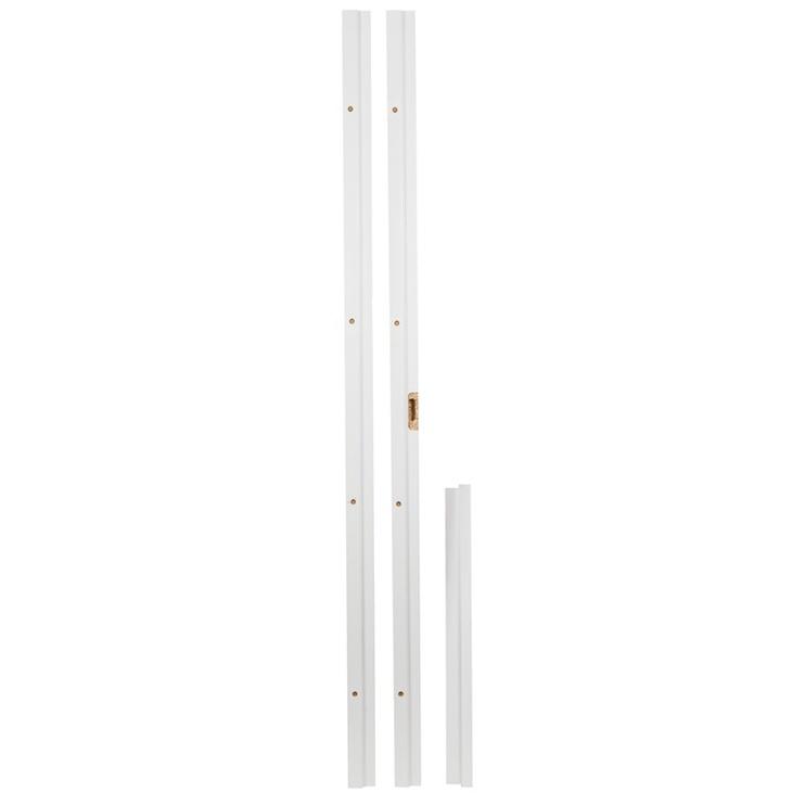Durų stakta, balta, komplektas, 20 x 75 x 2080 mm
