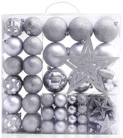 Елочная игрушка DecoKing BUB/STAR/SL/100PCS, серебристый, 60 мм, 100 шт.