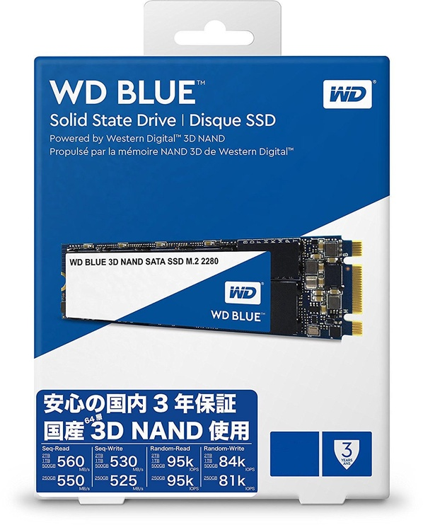 Western Digital Blue 500GB M.2 WDS500G2B0B