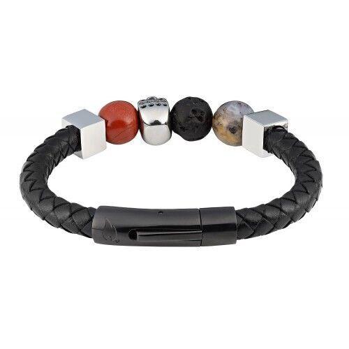 Браслет Zippo Leather Bracelet With Charms 22cm