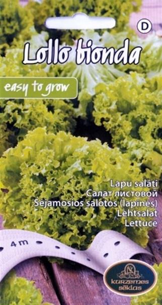 Sēklas salāti Lollo Bionda