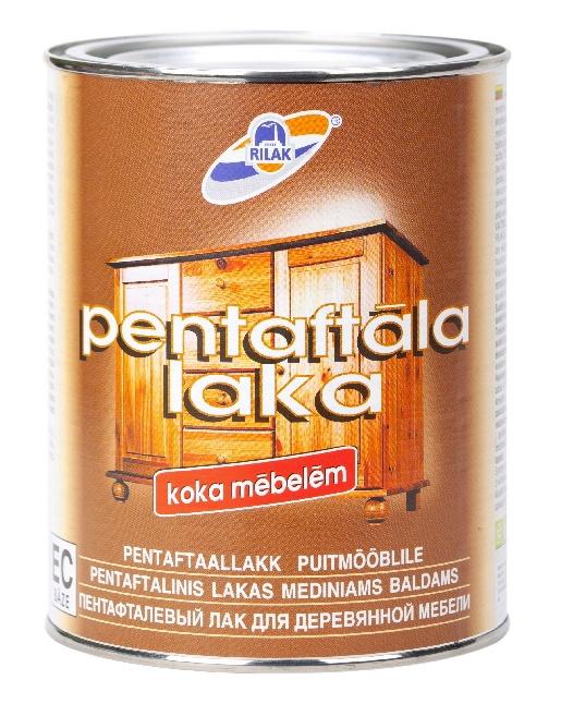 Alkidinis medienos lakas Rilak Pentaftala Laka, 2.7 l