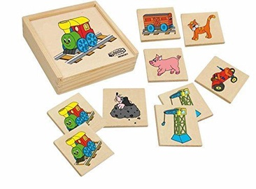 Galda spēle Woodyland Wooden Memory Game Happy Engine 36pcs