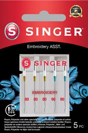 Singer Embroidery Needle ASST 5pcs