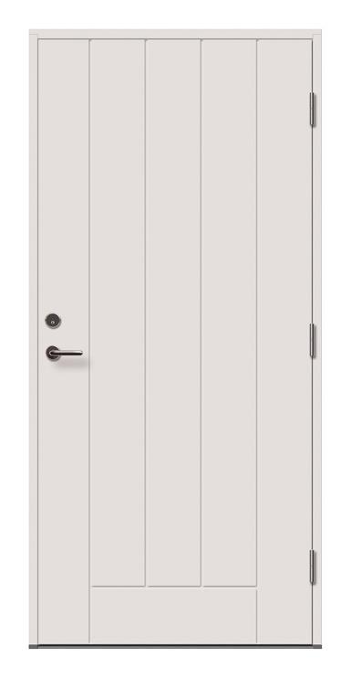 Lauko durys Viljandi Cello 02, baltos, dešininės, 209x89 cm