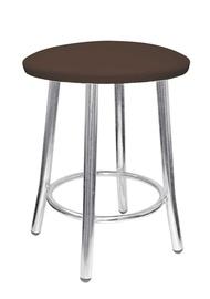 Valgomojo kėdė - taburetė, Teddy Chrome V-3, tamsiai ruda