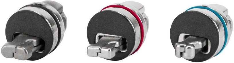 Targus DEFCON 3-in-1 Resettable Coiled Cable Combination Lock
