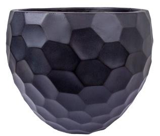 Home4you Flower Pot Cubo-2 D40xH31cm Dark Gray