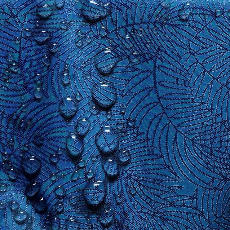 Скатерть AmeliaHome Gaia HMD Indigo, 150x550 см