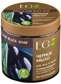 ECO Laboratorie Body And Hair Black Soap 450ml