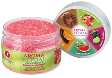 Dermacol Aroma Ritual Rhubarb & Strawberry 200g Body Scrub