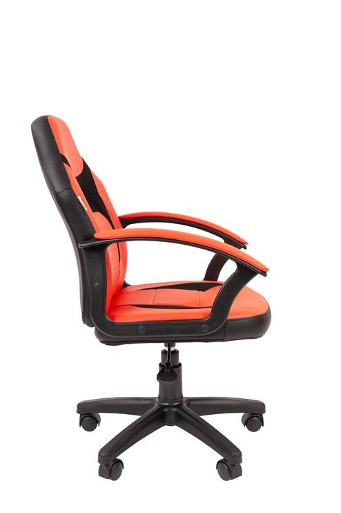 Детский стул Chairman 110, черный/красный, 460 мм x 1025 мм