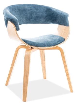 Signal Meble Indiana Velvet Chair Sea/Oak