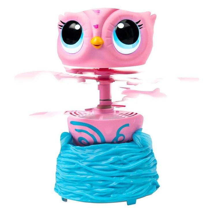 Игрушечный робот Spin Master Owleez Flying Baby Owl Pink