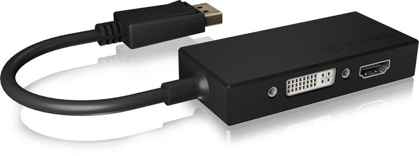 Icy Box Adapter DisplayPort To HDMI/DVI-D/VGA 3-in-1 IB-AC1031