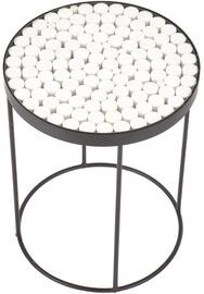 Kavos staliukas Halmar Naturo 2, baltas/juodas, 470x470x610 mm