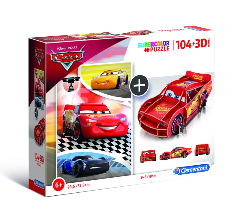 Puzle Clementoni + 3D Model Cars 20160, 104 gab.