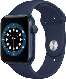 Išmanusis laikrodis Apple Watch Series 6 GPS 44mm Blue Aluminium Deep Navy Sport Band