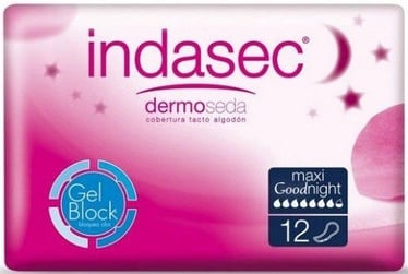 Indasec Dermoseda Pads 12pcs Maxi Goodnight