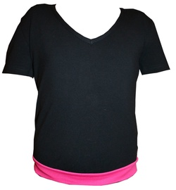 Bars Womens T-Shirt Black/Pink 18 152cm